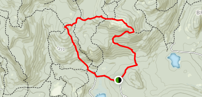 Straightback Mountain and Mount Anna via Main Trail (Blue) and Anna-Goat (Red) Map