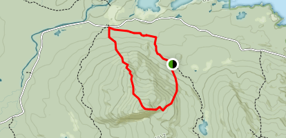 Five Ponds Trail to Trout Brook Mountain Trail Loop Map