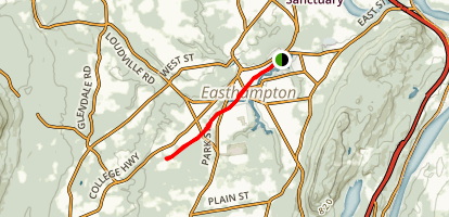 Manhan Rail Trail: Ferry to Southampton Map