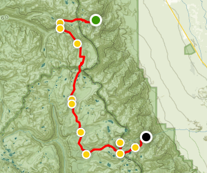 Onion Valley to Mt. Whitney via Kearsarge Pass and John Muir Trails Map