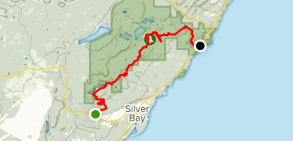 Silver Bay to Tettegouche State Park via Superior Hiking Trail Map