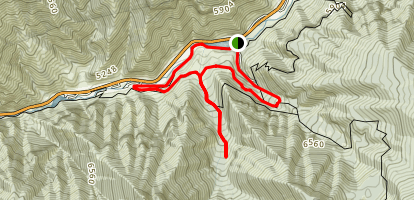 Bridger Lookoff and Mill Hollow Trail Loop Map