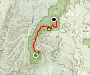 Under the Rim Trail Map