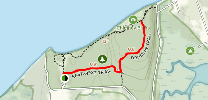 East-West and Drumlin Trail  Map