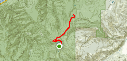 Rainy Lake and Green Point Mountain Loop Trail Map
