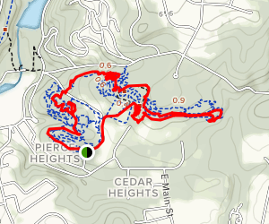 Nassau and Bear County Loop Trail Map