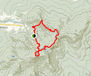 Mount Round Top and Mount Gagnon Loop Map