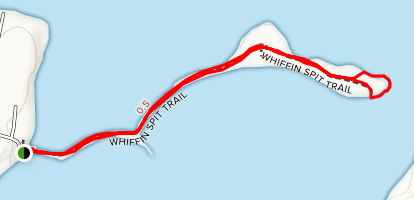 Whiffin Spit Trail Map