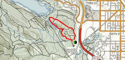 Rocky Knoll, Beaver Pond, Morrell Lake, and Alder Trails Loop Map