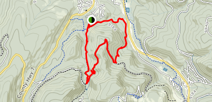 Tunnel Hill and Little Vasquez Loop  Map