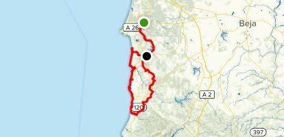 Rota Vicentina: Alentejo Section Map