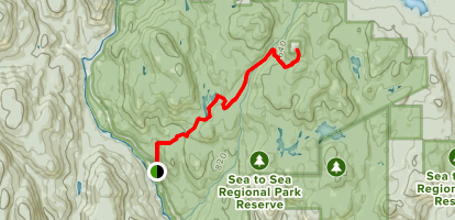 Mount Empress from Sooke Potholes via Mary Vine and Todd Creek Trails Map