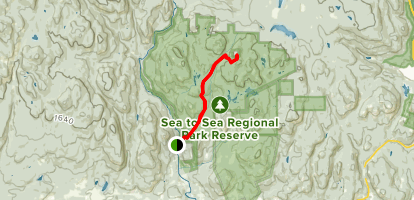 Mount Empress via Harrison and Todd Creek Trails Map