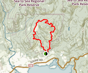 Mount Quimper and Mount Brule via Summit, Kinnikinnick, and Stonecrop Trails Loop Map