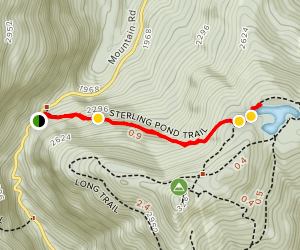 Sterling Pond Trail Map