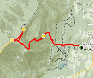 Equinox Mountain and Lookout Rock Map