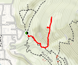 Woods Canyon to Crystal Lite Trail Map