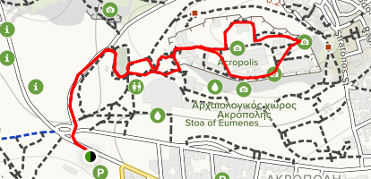 Acropolis Walk Map