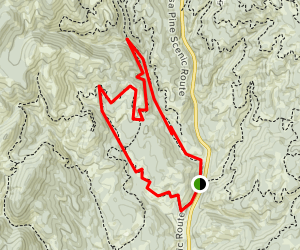 Gold Fork Cross-Country Ice Trail Map