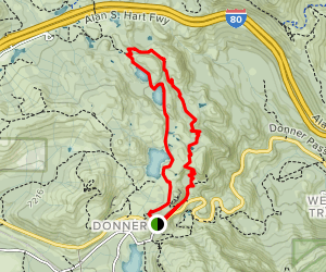 Angela, Flora, and Azalea Lakes via Pacific Crest and Donner Summit Lakes Trails Map