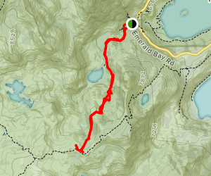 Eagle Falls Trail to Bayview Trail Junction Map