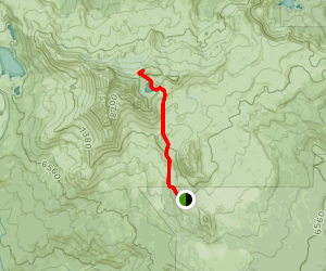 Broken Top Trail to No Name Lake and Bend Glacier Map