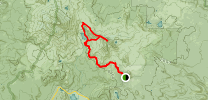 Broken Top Trail to Cayuse Crater, Green Lakes and Broken Top NW Ridge Route Map