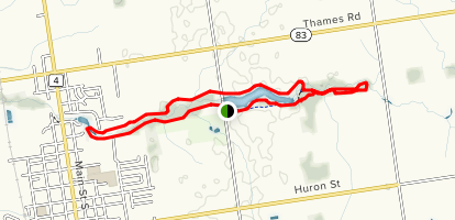 Morrison Dam Conservation Area Loop Map