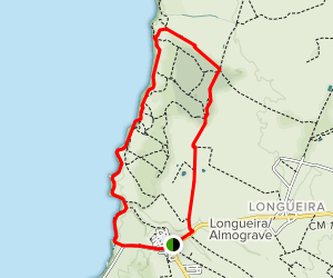 The Dunes of Almograve Circular Route Map