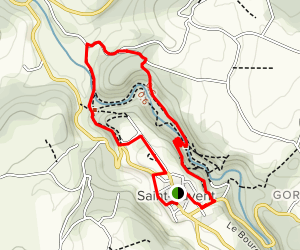 Saint Auvent History and Nature Loop Map