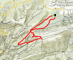 Bertagne Peak Loop Map