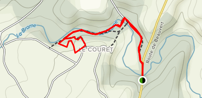 Couret Oratory Trail Map