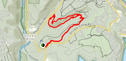 Red Trail to Green Trail Loop Map