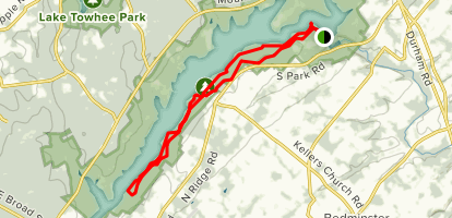 Mink Trail to Church Trail to Elephant Trail Loop Map
