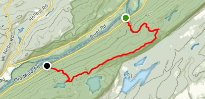 Large Pile of Rocks on Raccoon Ridge via Appalachian Trail Map