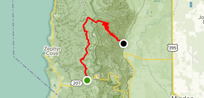 Kingsbury Pass to Pints via Tahoe Rim and Sierra Canyon Trails Map