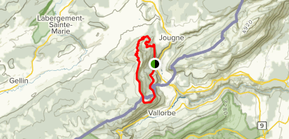 The Tour of Mont D'Or Map