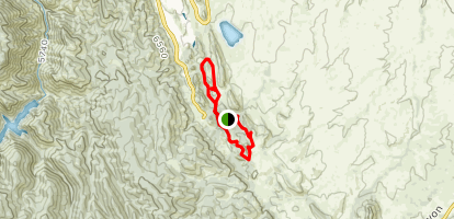 South Rim to Willow Creek To Fountain Valley Loop Map