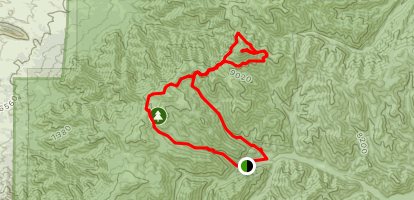 Crest Trail to Turkey Canyon Trail Loop Map