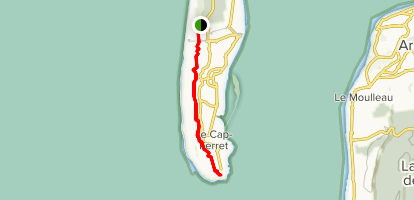 Cape Ferret Dunes Map