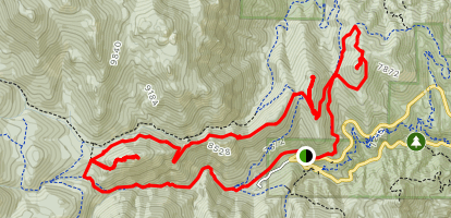 Three Peaks Loop via Gold Camp Road and Captain Jacks Trail Map