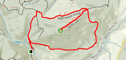Writsman Knob Peak Loop via Forest Peak Road, Glide Path, and Writsman Knob Map