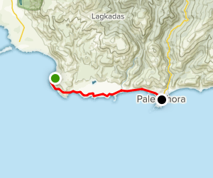 The E4 European Path: Agios Ioannis to Palaiochora Map