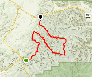 East Well Canyon to Big Tank Canyon Map