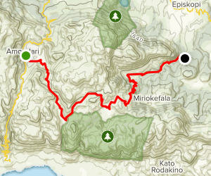 The E4 European Path: Petres to Argyroupoli Map