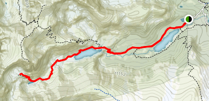 Long Lake to Isabelle Glacier Map