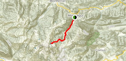 Devil's Pond from Montségur Map