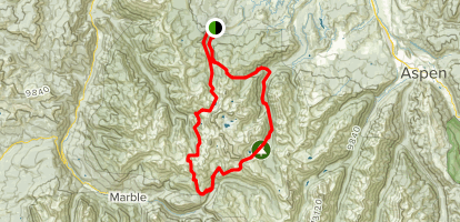Capital Creek Loop to Haystack Mountain Map