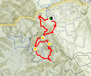 Meadowlark Plymouth Creek and Plymouth Mountain Trail Loop Map