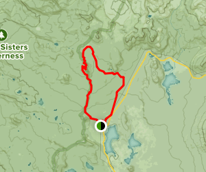Koosah Mountain and Sisters Mirror Lake Map
